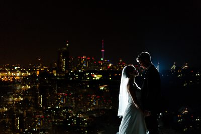 Atlantis Toronto Wedding Portrait of Bride and Groom