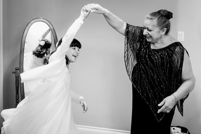 Grandmother and Granddaughter Dance