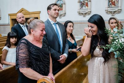 Bride's Mother and Sister Cry