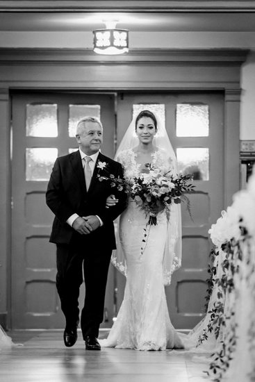 Bride Walks Down the Aisle at King Edward Hotel Wedding