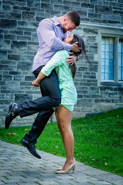 Fun Engagement Photo at University of Toronto