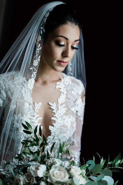 Pensive Bride at King Edward Hotel Wedding