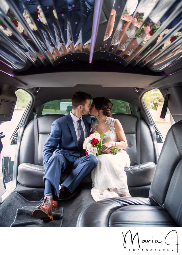 Wedding Limo Reflections