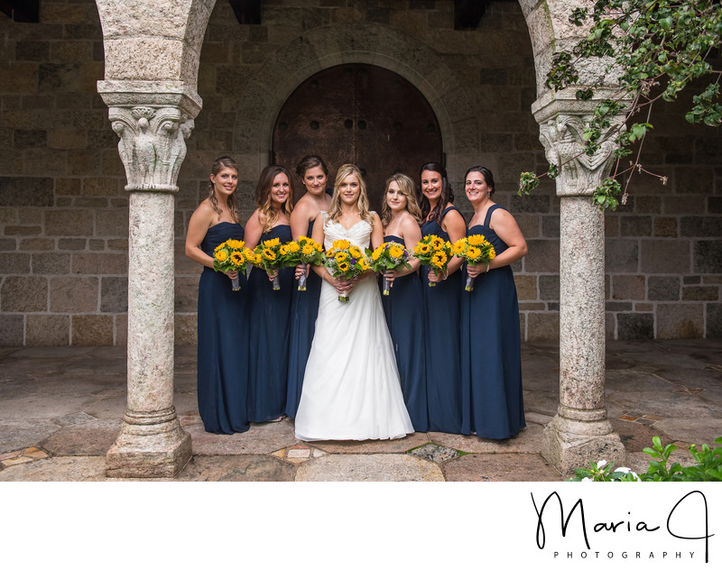 Bridesmaids Portrait at Glencairn Museum | Bryn Athyn