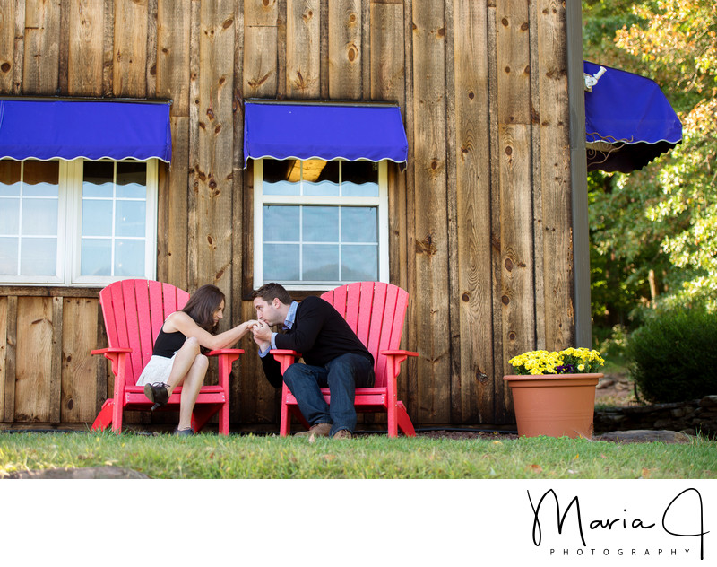 Engagement Photography at Peace Valley Lavender Farm