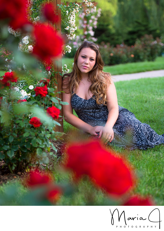Graduation Portraits at the Rose Gardens
