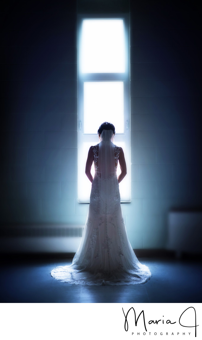 Bridal Portrait at Northampton Presbyterian Church