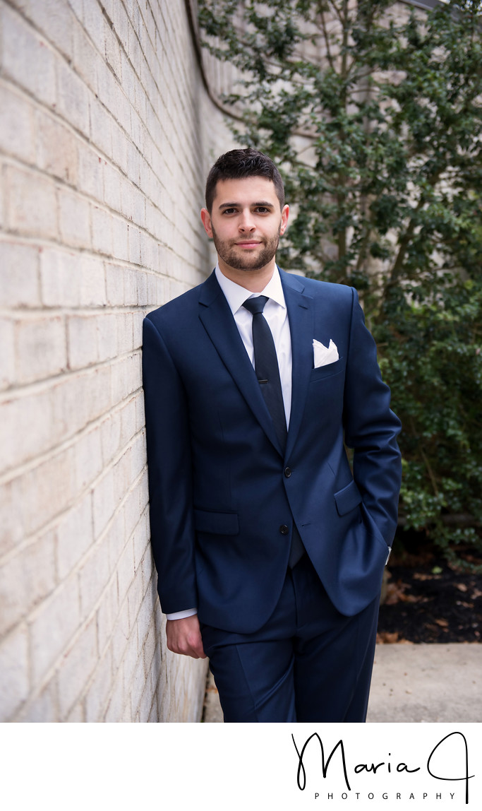 Grooms Portrait at Northampton Presbyterian Church