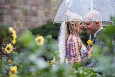 Umbrella Wedding Photography at Glencairn Museum