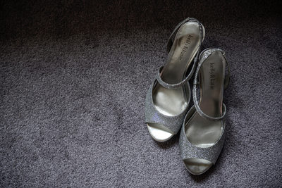 Brides Shoes on Her Wedding Day