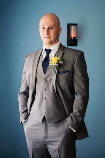 Groom on His Wedding Day