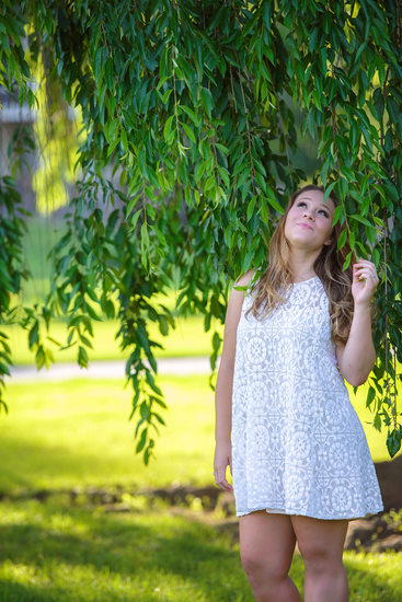 Senior Portraits at Allentown Rose Gardens