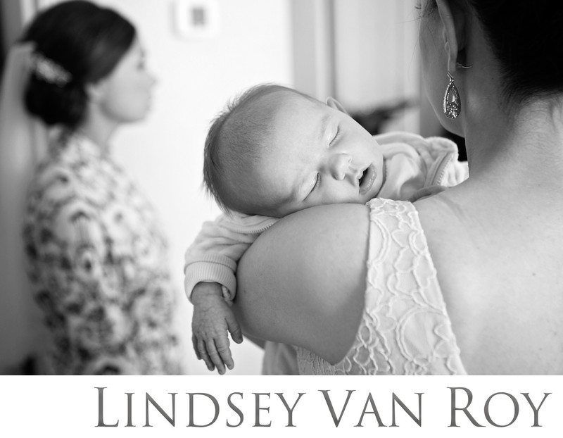 Sleepy baby at Milwaukee Wedding Photography