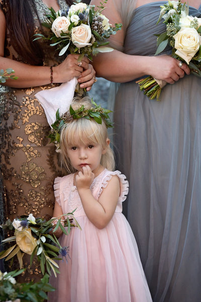 Flower girl at the Iron Horse Hotel