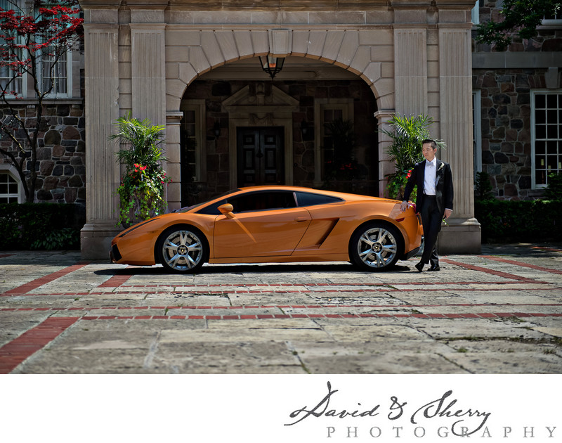 Toronto Luxury Car Rental Wedding Photos