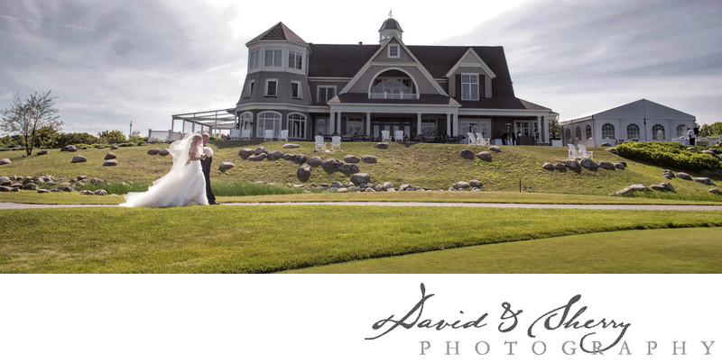 Cobble Beach Wedding Ceremony on the Front Lawn