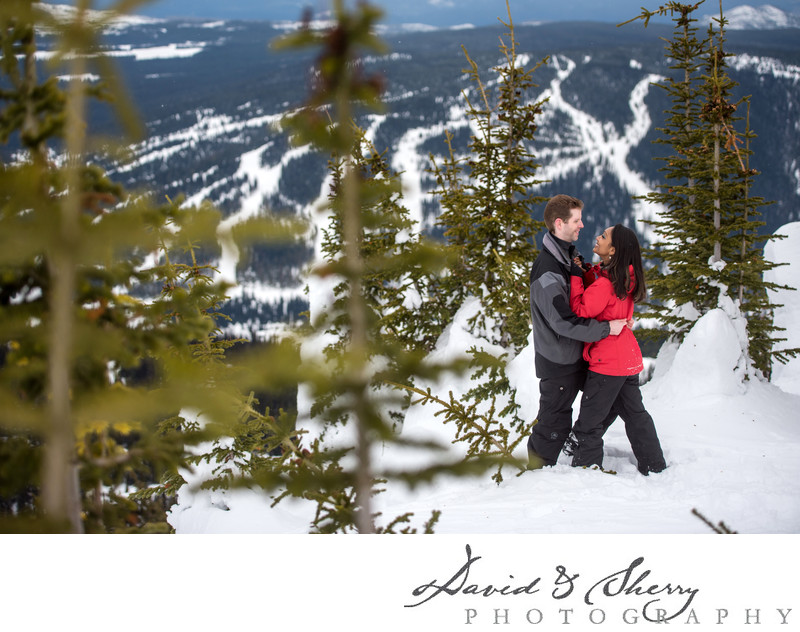 Engagement Photos at Sun Peaks Resort