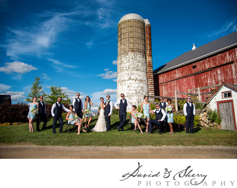 Cambium Farms Wedding Party