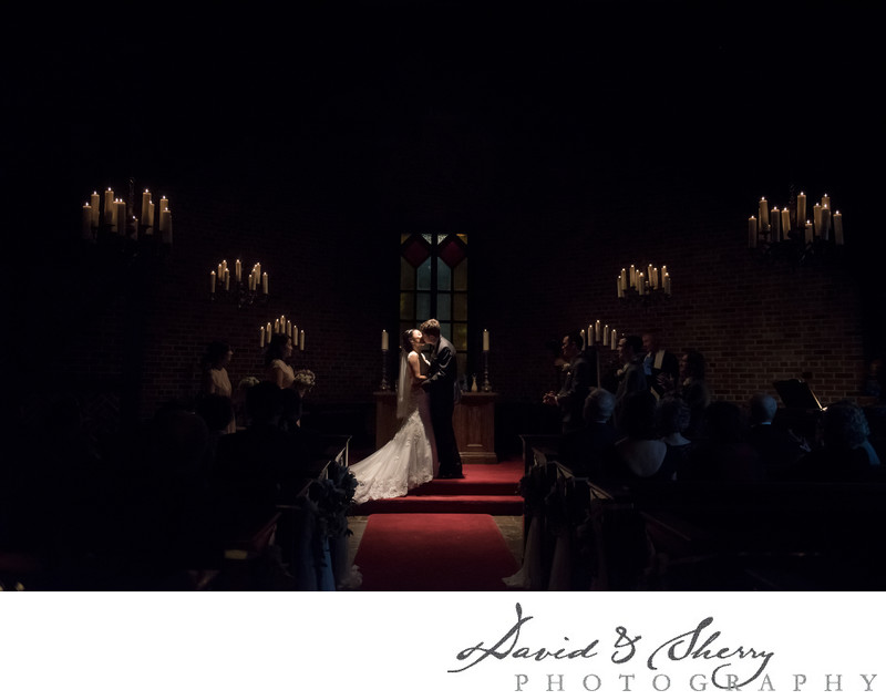 Candlelight Wedding Ceremony Old Mill Toronto