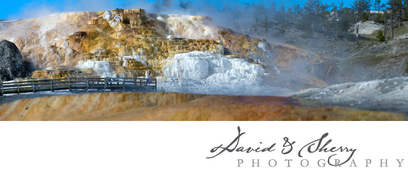 Yellowstone National Park Landscape Wedding Pictures