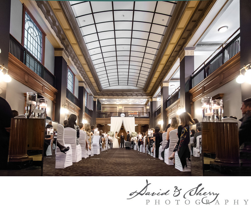 One King West Grand Banking Hall Wedding Ceremony