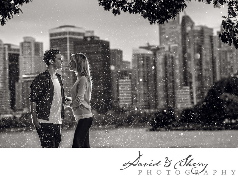 Rainy Day Engagement Photos in Vancouver