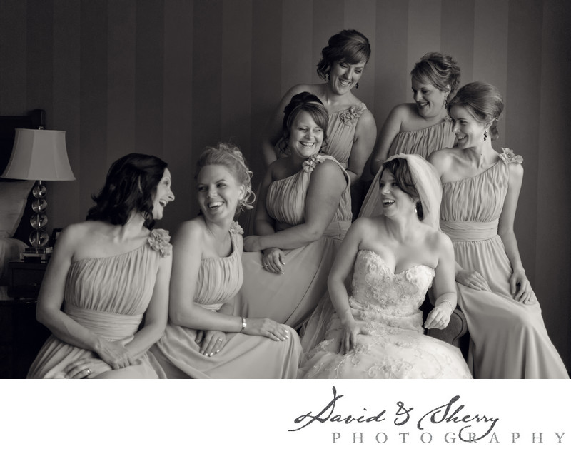 Bridesmaids group photos
