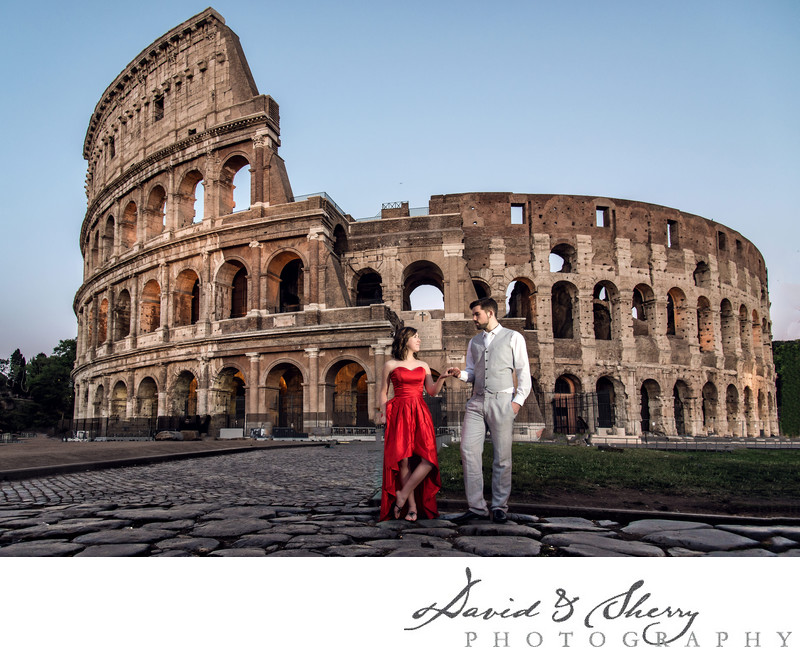 Colosseum Wedding Photography in Rome Italy