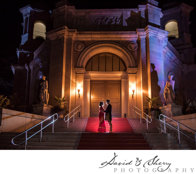 Night Time Wedding Photos at Liberty Grand