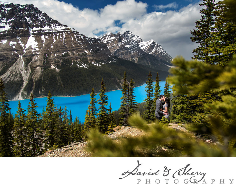 Glacier Parkway Banff Pre-Wedding Engagement photos