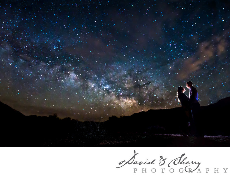 Milky Way Star Wedding Photos Night Time Photography
