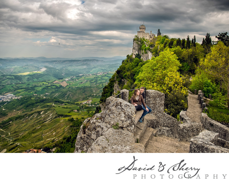 San Marino Pre-Wedding Engagement Photography