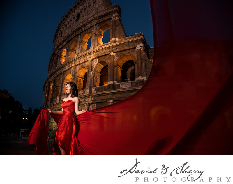 Pre-Wedding Fashion Photos in Rome, Italy