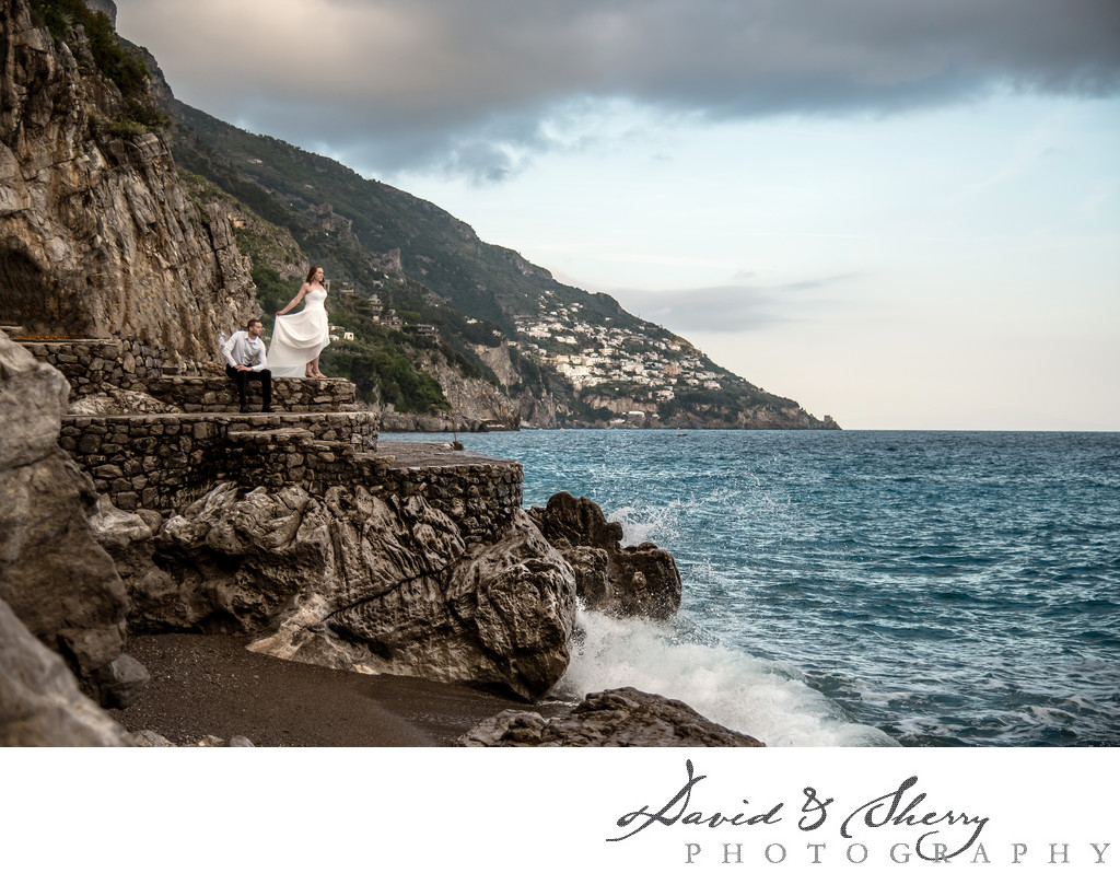 Italian Amalfi Coast Pre-Wedding Photos