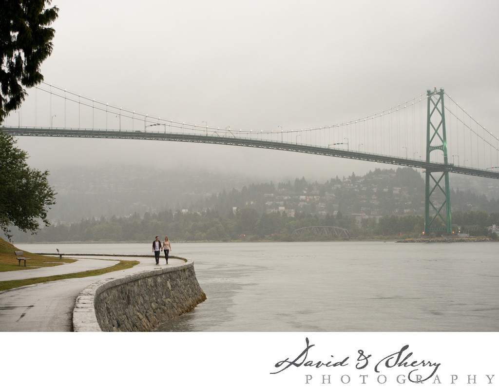 Stanley Park Seawall Engagement Photos