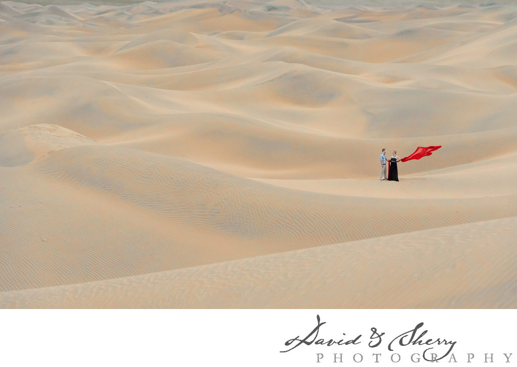 Desert Sand Dunes Styled Pre-Wedding Photo Session