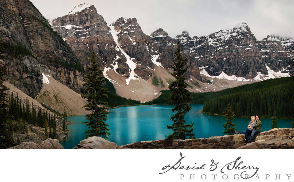 Moraine Lake Pre-Wedding Engagement Photography