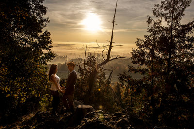 Rattlesnake Point Engagement Photography at Sunrise