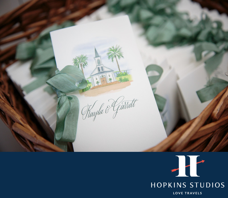 Palmetto Bluff Wedding Stationary
