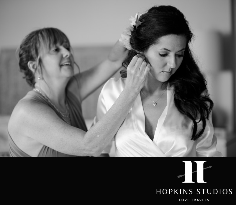 bride preparations sea pines wedding