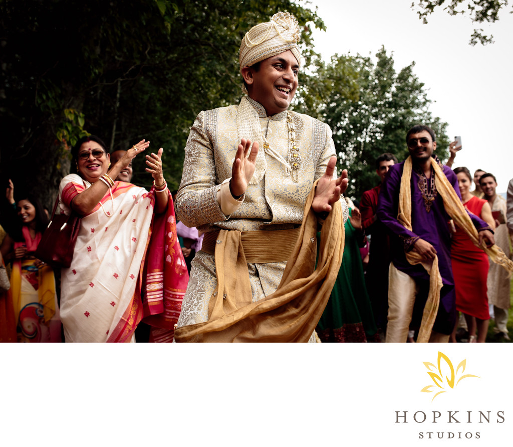 Groom During Barat at Keswick Vineyards