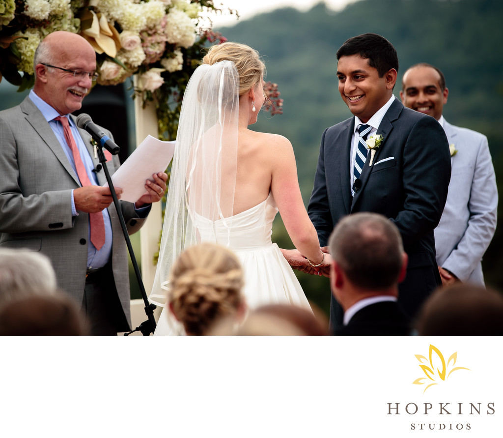 Wedding Ceremony at Pippin Hill Farm