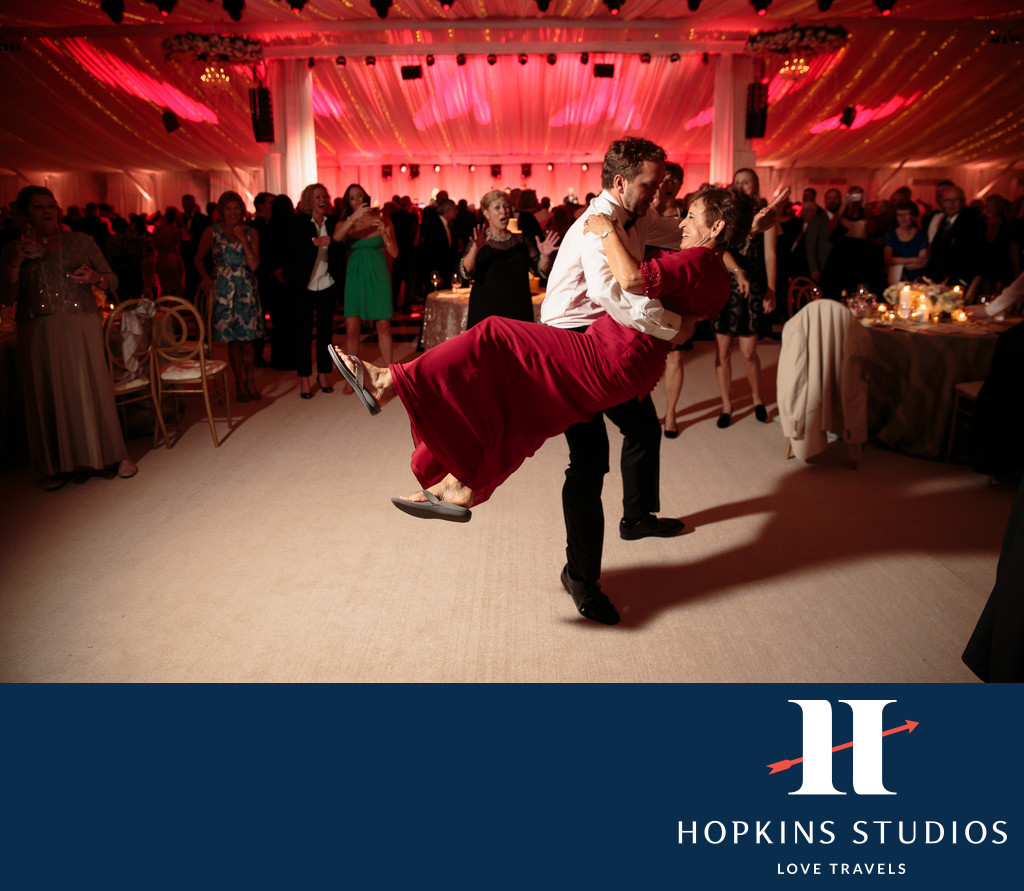greenbrier resorts tented wedding reception