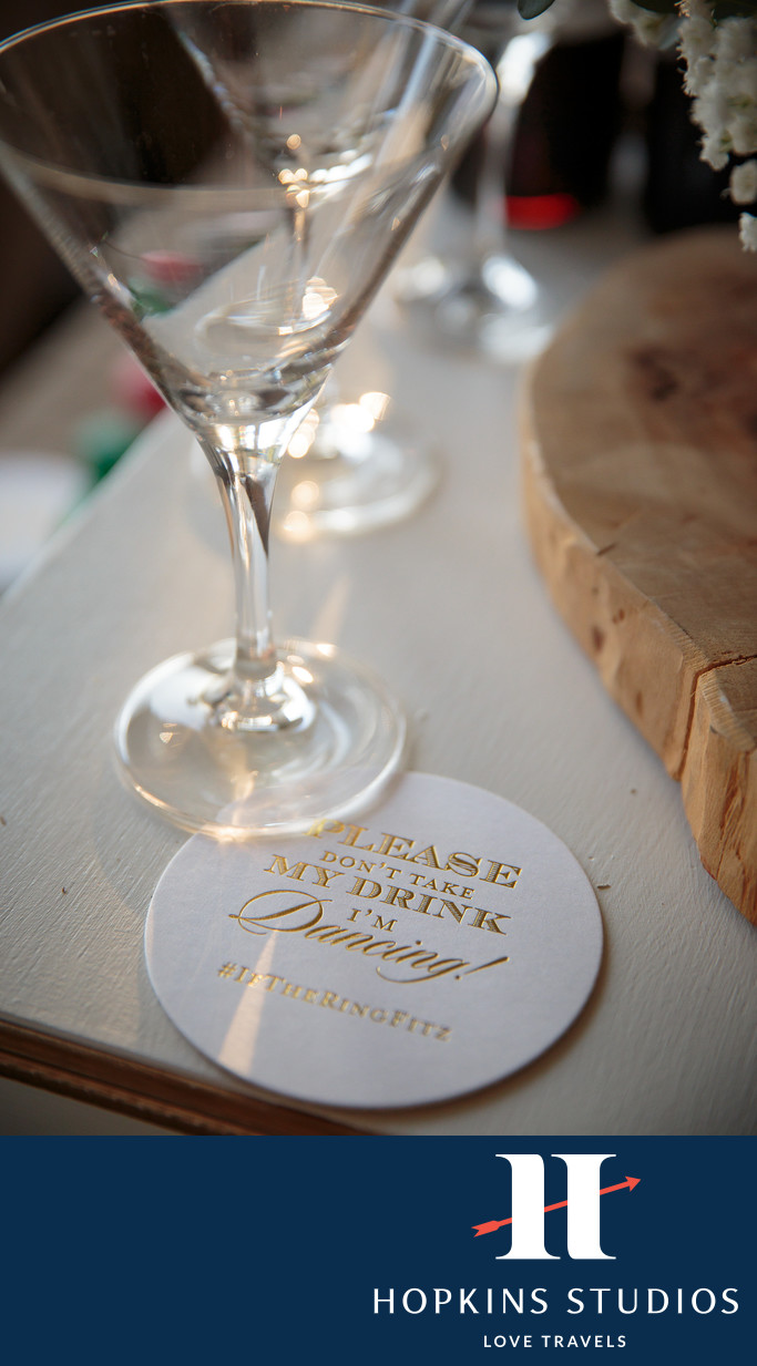 Palmetto Bluff wedding drink coasters
