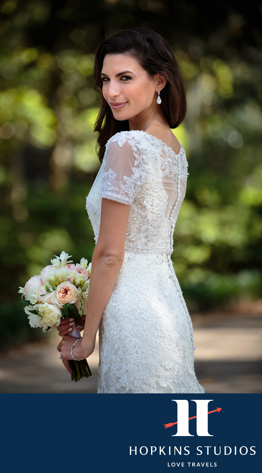 forsyth park wedding bride