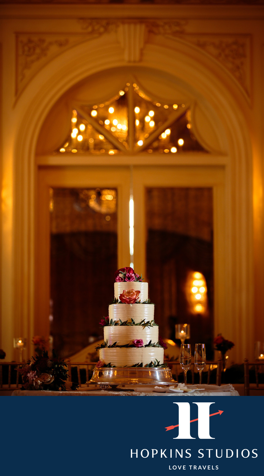 sea island wedding cake
