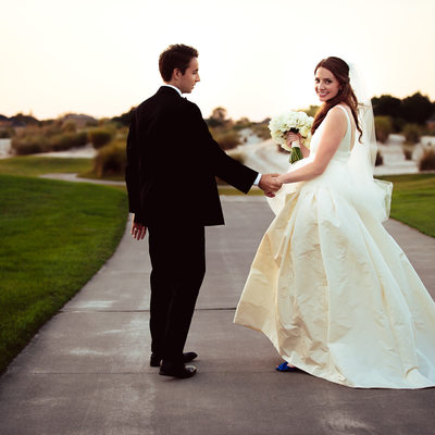 Bride and Groom at Colleton River Club
