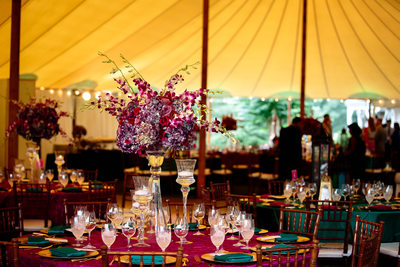 Reception in Sperry Tent at Keswick Vineyards