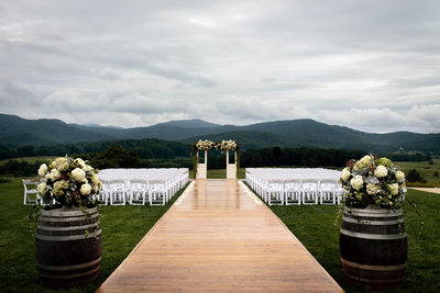 Outdoor Wedding Reception at Pippin Hill Farm