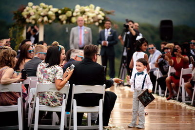 Ring Bearer at Pippin Hill Farm Wedding
